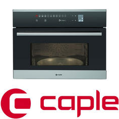 View Item Caple Sense Stainless Steel and Black Glass Microwave CM109