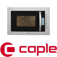 View Item Caple Classic Stainless Steel and Black Glass Microwave CM119