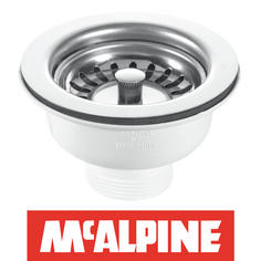View Item McAlpine 90mm Polished Kitchen Sink Basket Strainer Waste BWSTSS