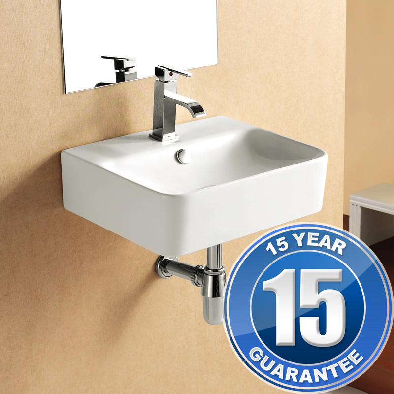 View Item Europa Victoria 1TH Contemporary Ceramic Bathroom Cloakroom Basin Sink 4122