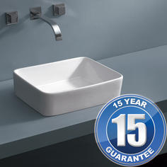 View Item Europa Notus 0TH White Ceramic Counter Top Bathroom Basin Sink A91