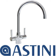 View Item ASTINI Luigi Chrome Twin Lever Kitchen Sink Mixer Tap HK91