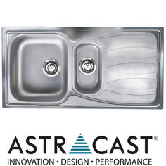 View Item Astracast Sirocco 1.5 Bowl Satin Stainless Steel Kitchen Sink & Waste