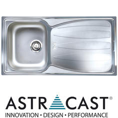 View Item Astracast Sirocco 1.0 Bowl Satin Stainless Steel Kitchen Sink &amp; Waste
