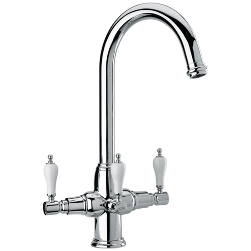 Brita kelda chrome 3 way traditional filtered water for Traditional kitchen taps