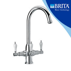 View Item Brita Kelda Chrome 3 Way Traditional Filtered Water Kitchen Mixer Tap