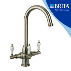View Item Brita Kelda Brushed 3 Way Traditional Filtered Water Kitchen Mixer Tap