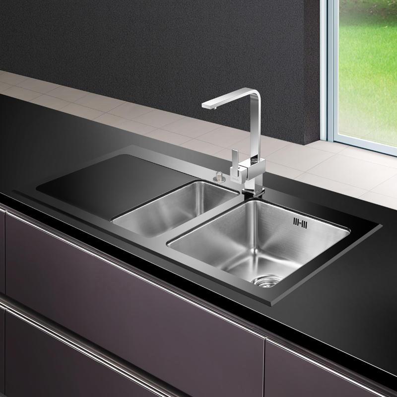 Kitchen Sink Black Glass - Sink Ideas