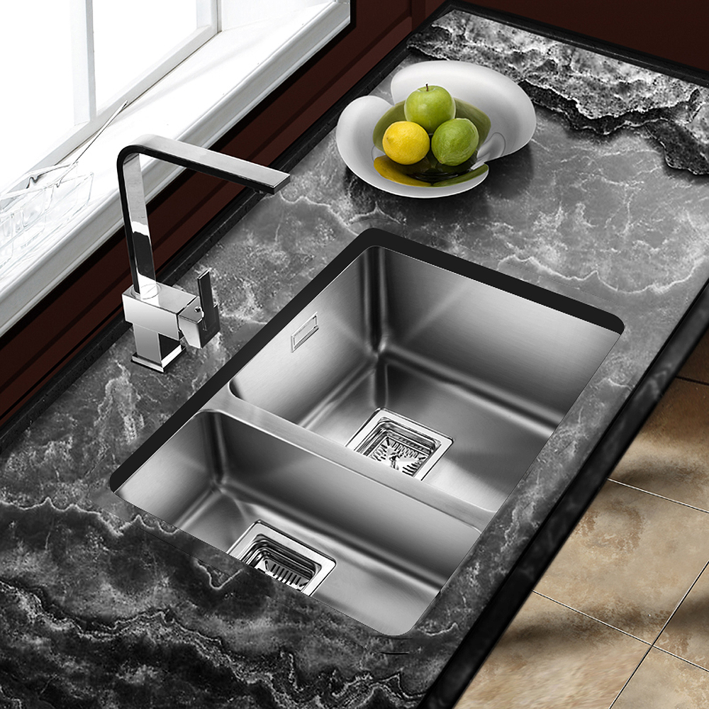 Granite Or Stainless Steel Sink : ... Vico 1.5 Bowl Silk Stainless Steel Undermount Kitchen Sink AS371RHSB