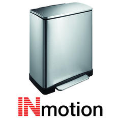 View Item Inmotion 50L Premium Stainless Steel Pedal Kitchen Rectangular Waste Dust Bin