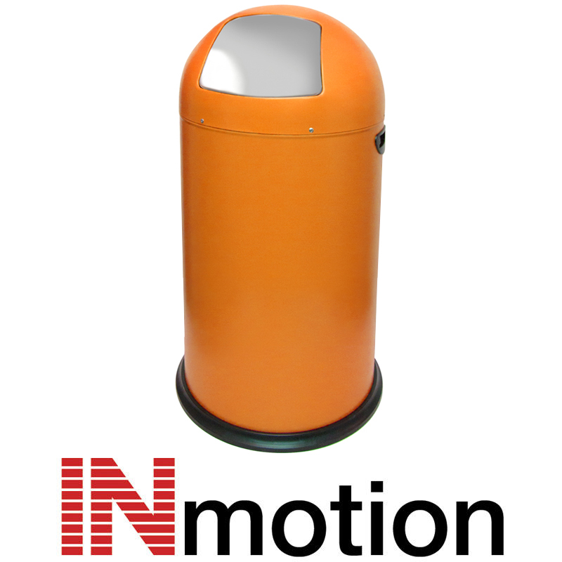 Inmotion 52L Gloss Finish Retro Push Flap Kitchen Waste