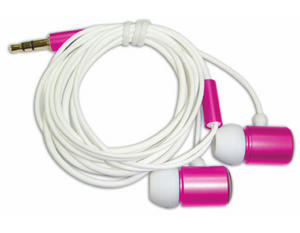 ME TO YOU Tatty Stereo Teddy In-Ear Earphones, Hot Pink Preview
