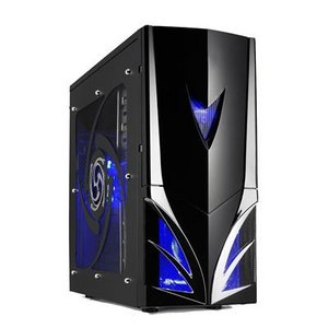 ... Gaming PC Tower Case - Envizage E-3393 Black Blue ATX Gaming PC Tower
