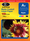 View Item A4 Matte Matt Coated Inkjet Paper 128gsm 100pack