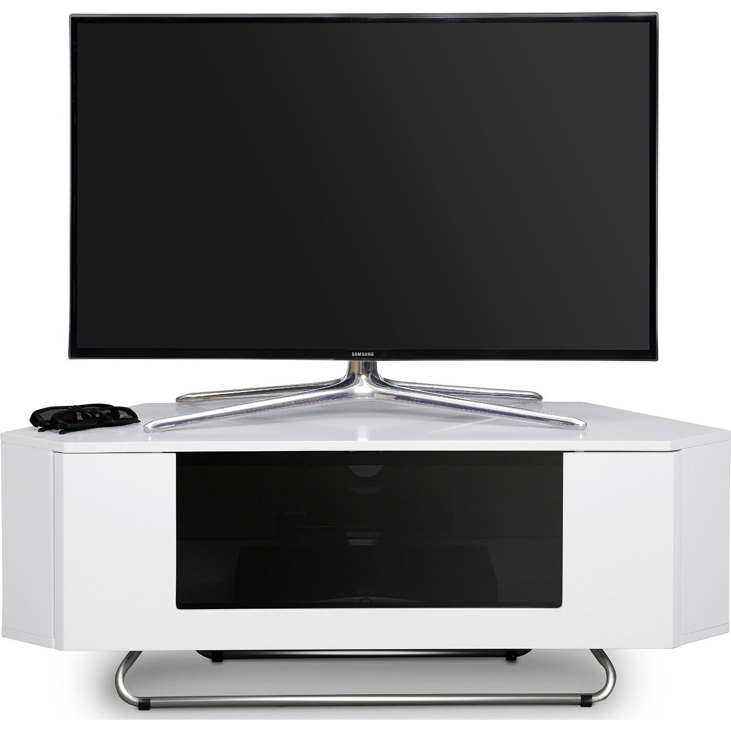 centurion supports hampshire gloss white beamthru 26 50 led tv ca. Black Bedroom Furniture Sets. Home Design Ideas