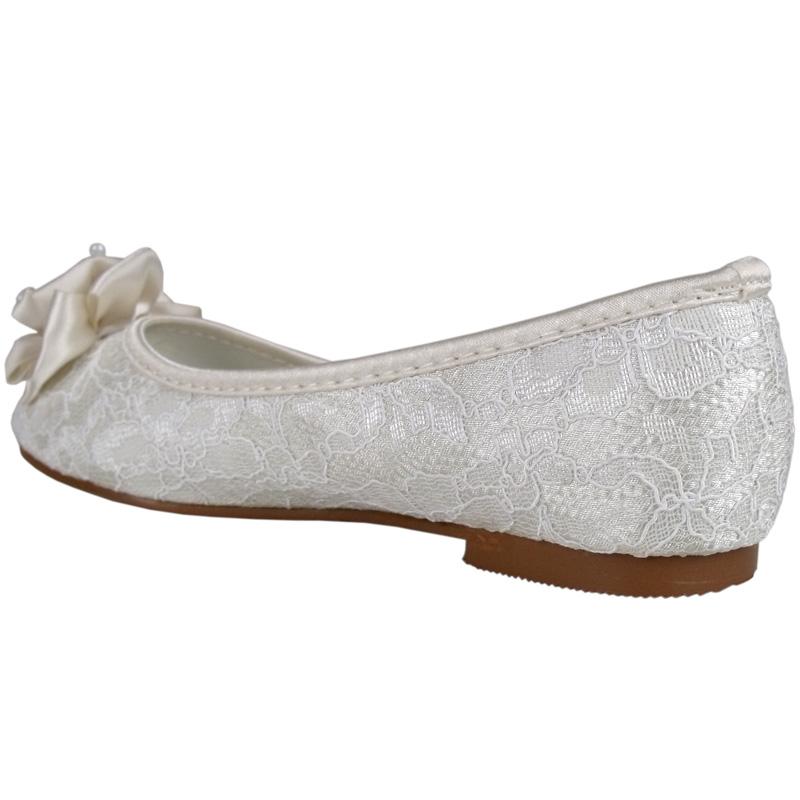 Flat Ivory Wedding Shoes