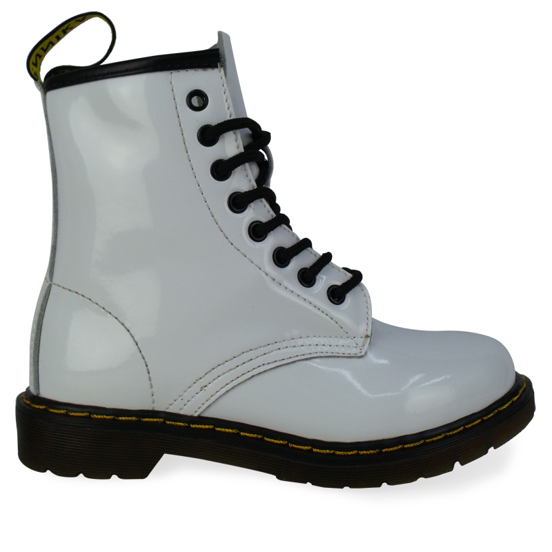 dm11 white patent laceup 100 leather funky