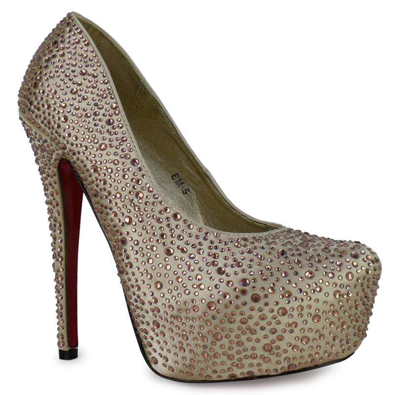 pumps damen strass hoher absatz rote sohle plateau schuhe stiletto 36 41 p1f ebay. Black Bedroom Furniture Sets. Home Design Ideas