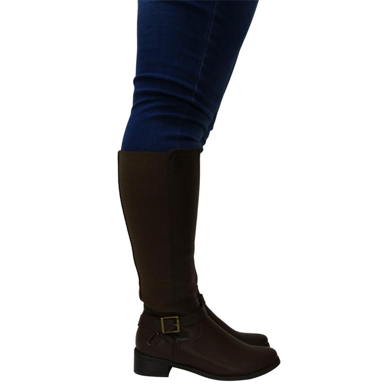 womens wide calf stretch mid calf knee