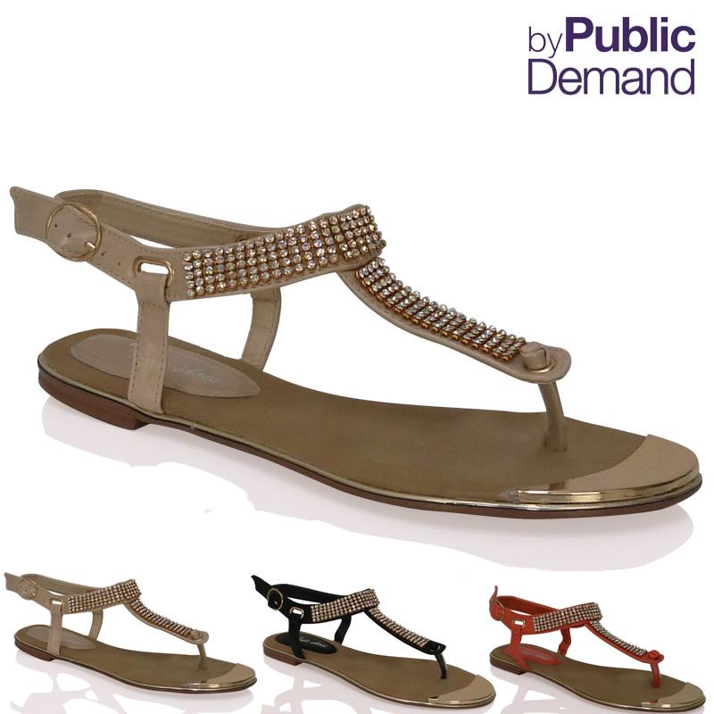 sandalen zehensandalen damen flach riemchen schnalle. Black Bedroom Furniture Sets. Home Design Ideas