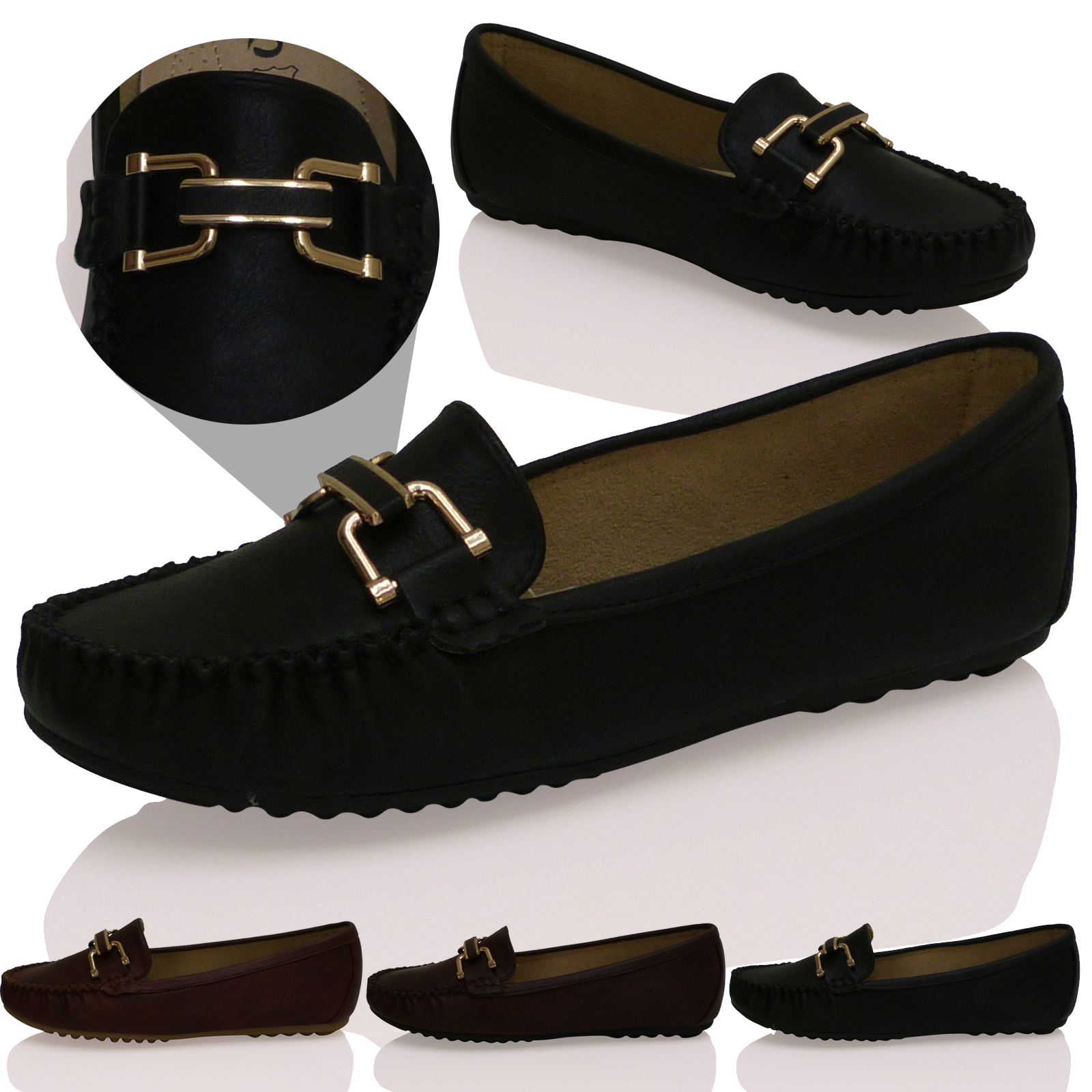 NEW LADIES WOMENS CASUAL FLATS LOAFERS BOAT SHOES SMART OFFICE WORK PUMPS SIZE | EBay