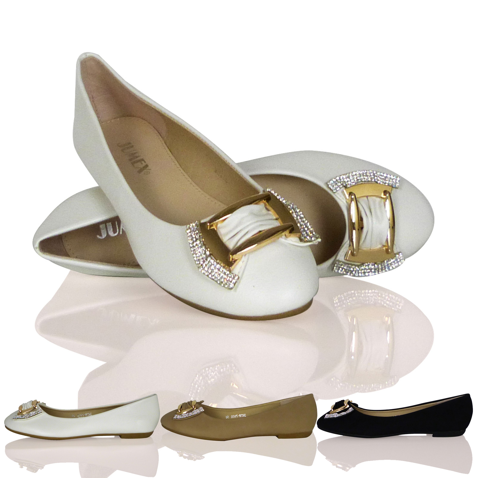 WOMENS LADIES BALLET FLATS BALLERINAS GOLD METALLIC BOW DIAMANTE NEW SHOES SIZE
