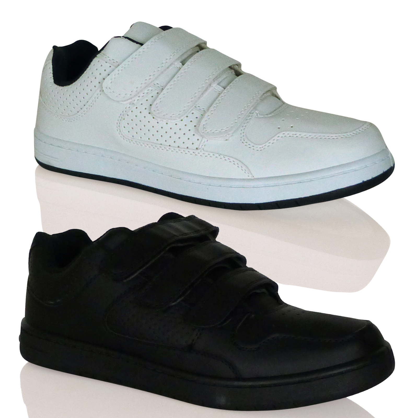 T1G Mens Trainers Velcro Sports Shoes Thick Sole Sneakers Gym Sports New Size