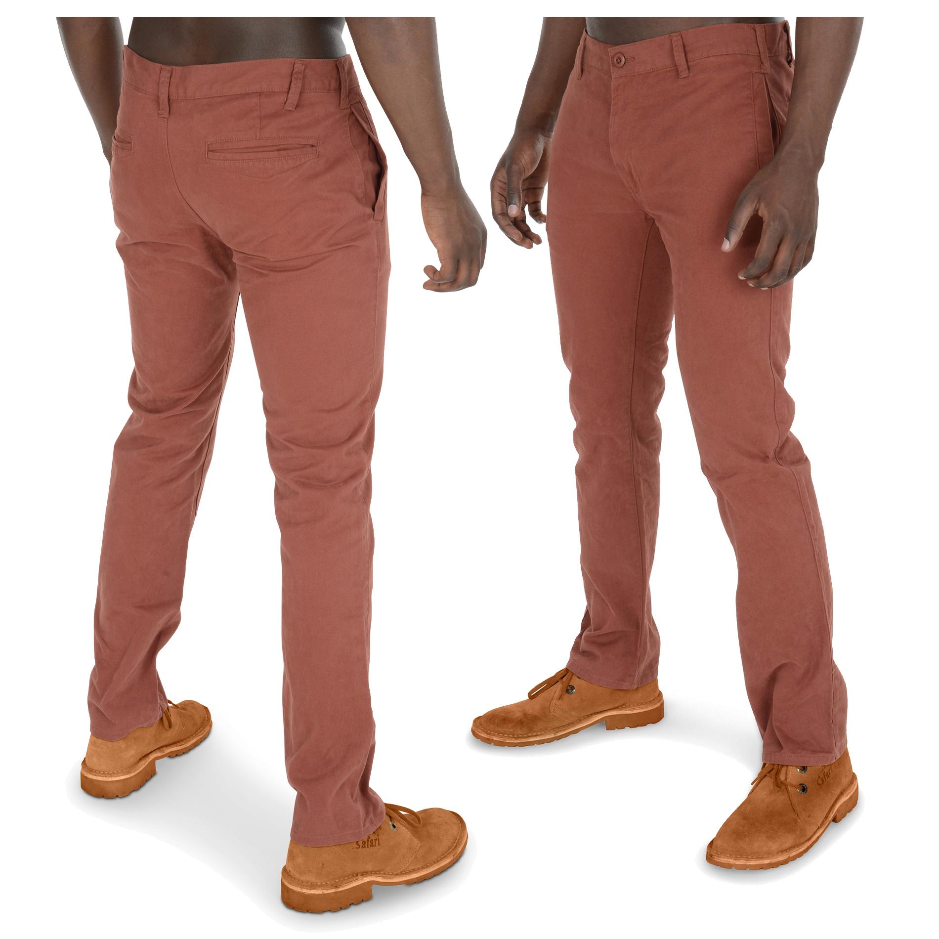 Mens Kushiro City Chinos Cotton Trousers Pants Straight Leg Casual ...