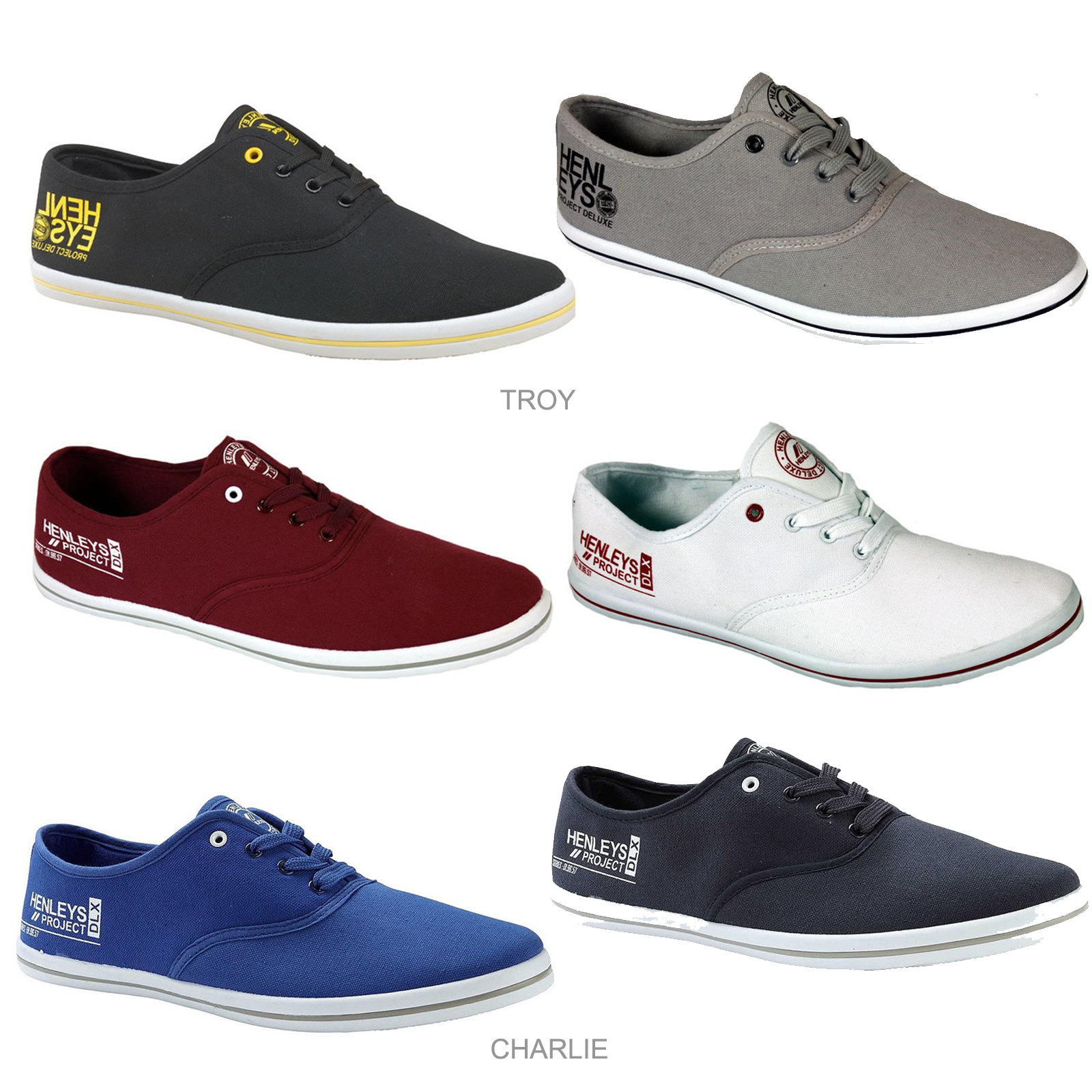 Mens Henleys Lace Up Canvas Shoes