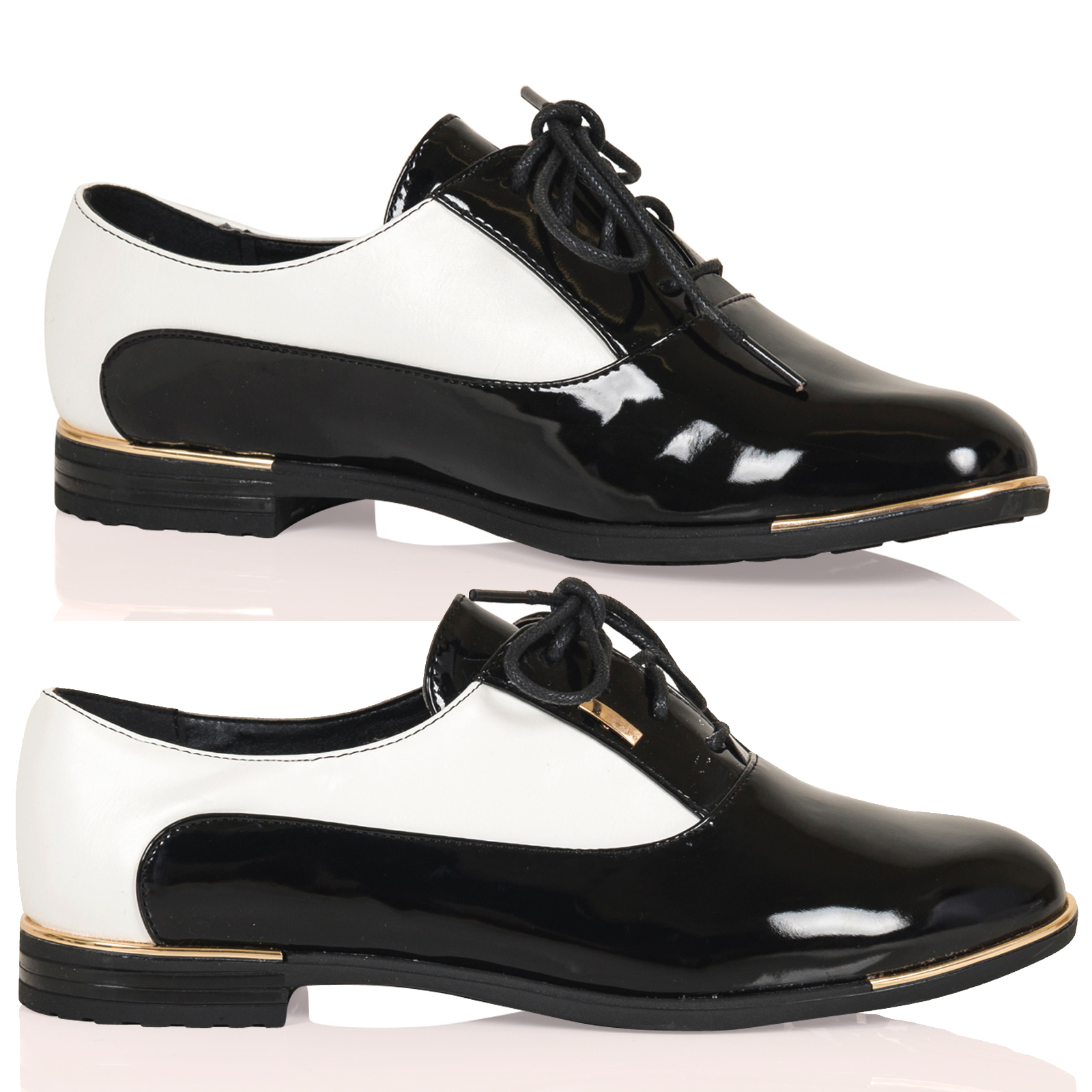kassidy womens lace up two tone high fashion oxford shoes