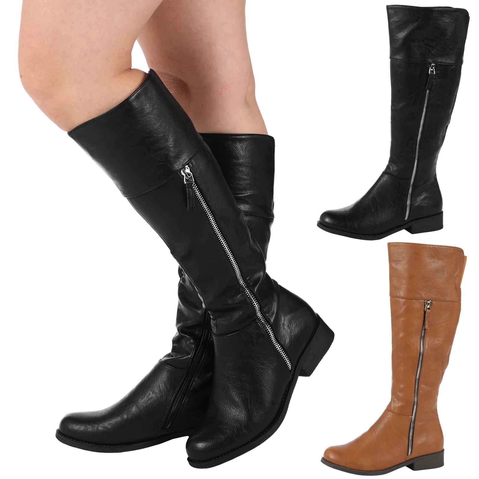 womens boots knee high biker fashion boots