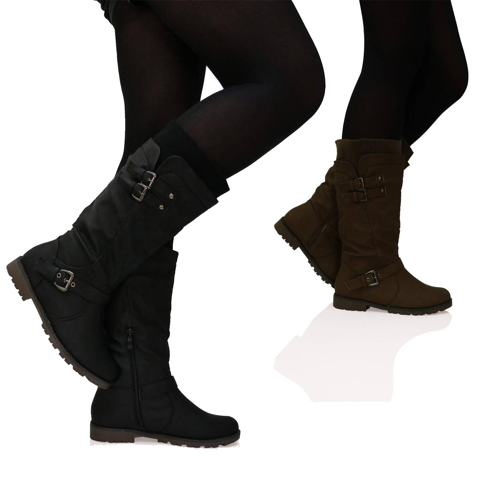 d6z womens sock fashion buckle biker trendy