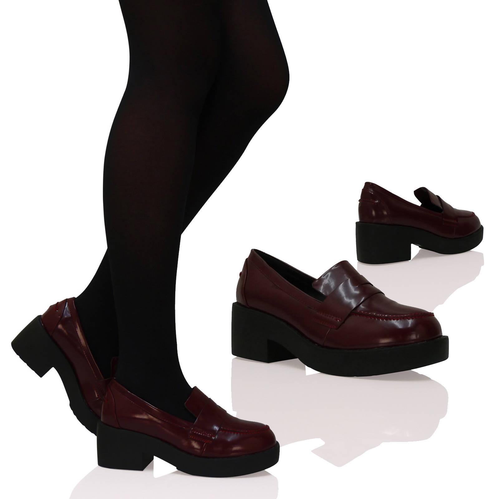 damen halbschuhe vintage retro punk gothic slipper absatz. Black Bedroom Furniture Sets. Home Design Ideas