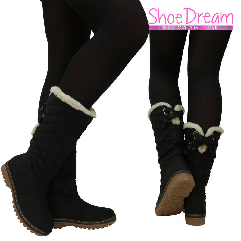 Womens Black Winter Boots - Cr Boot