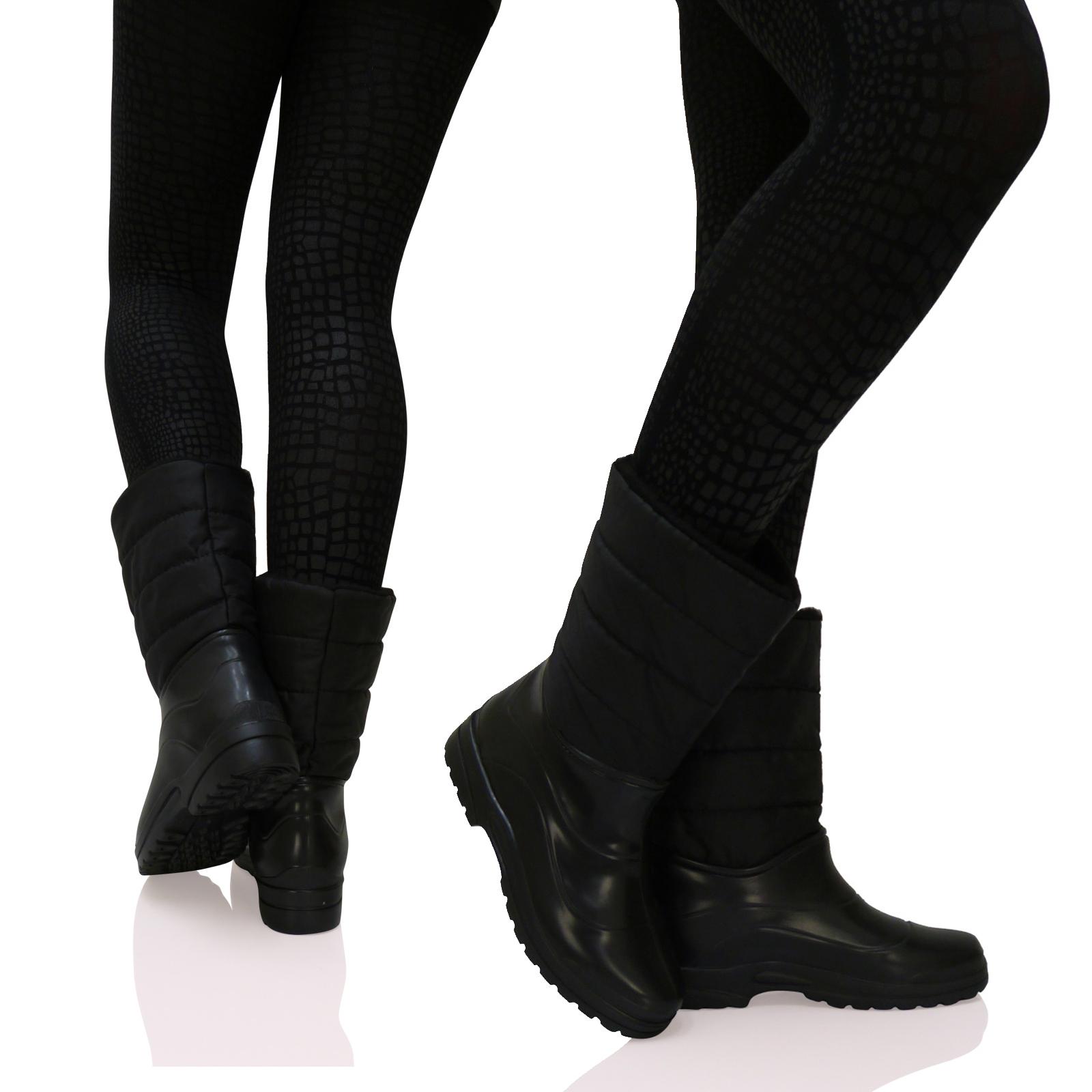 damen wasserdicht winter schnee flache kn chelhohe stiefel. Black Bedroom Furniture Sets. Home Design Ideas