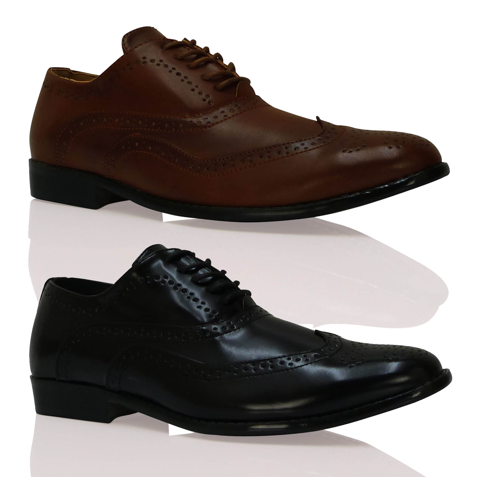 new mens stylish lace up evening brogues comfortable