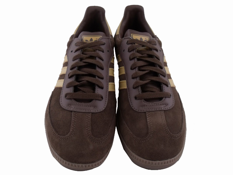 adidas samba brown/beige suede trainers