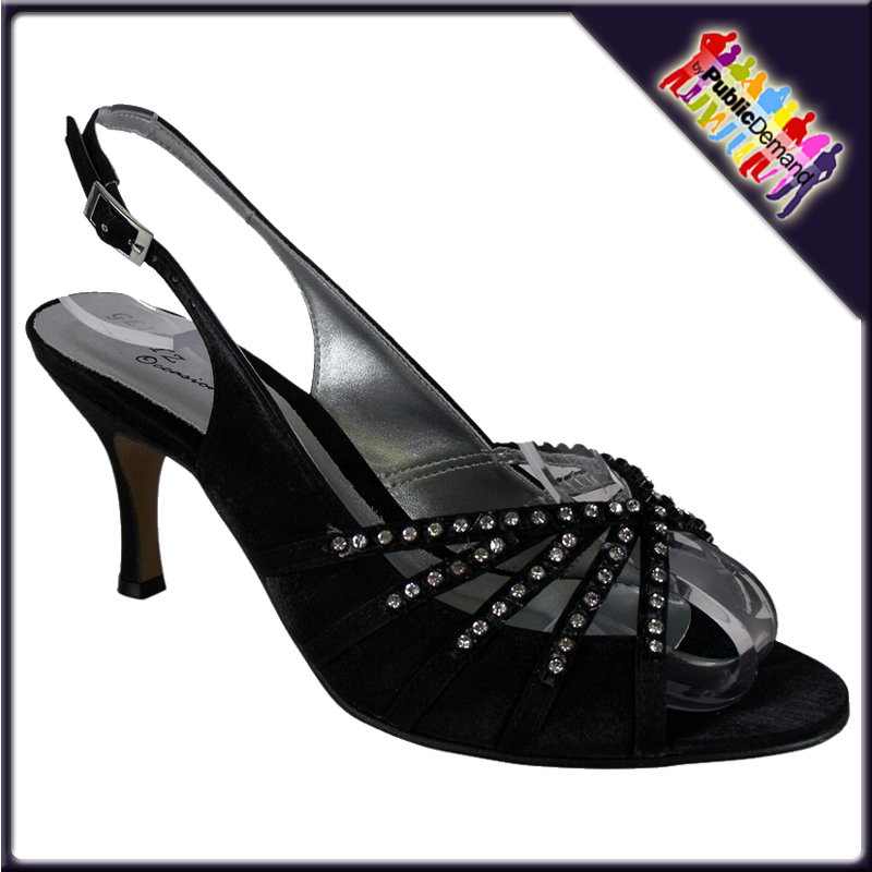 LADIES-BLACK-STUD-CHAIN-STRAP-FLAT-ANKLE-BOOTS-SIZE-3-8