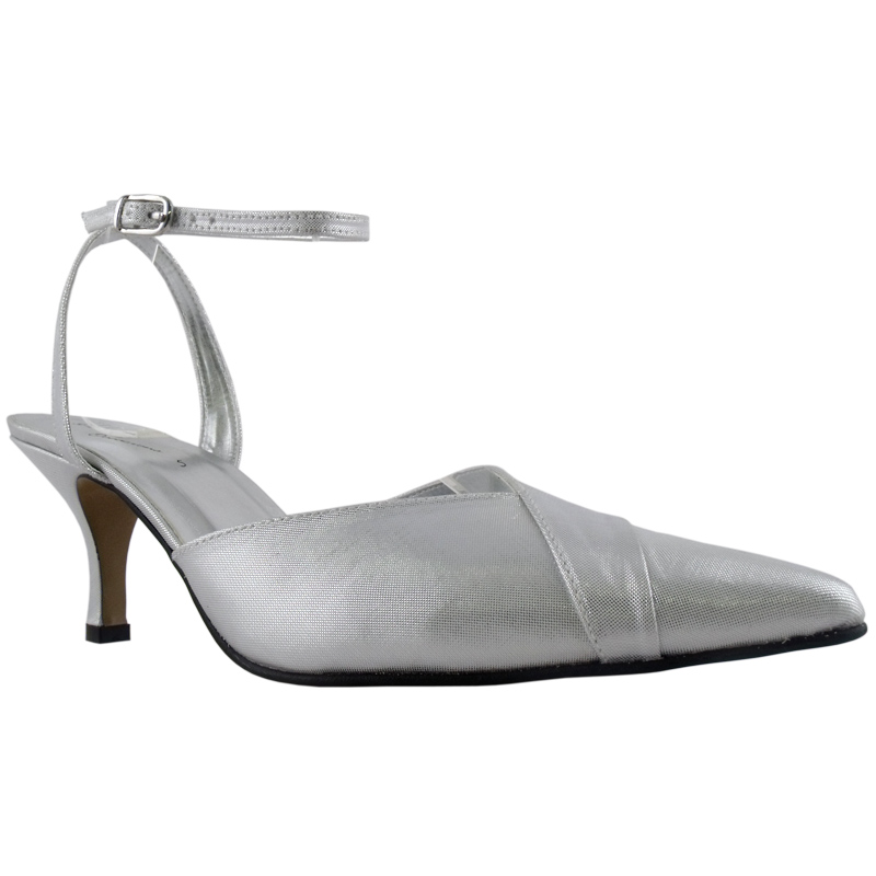 womens silver satin bridal prom small heel shoes size 3 ebay