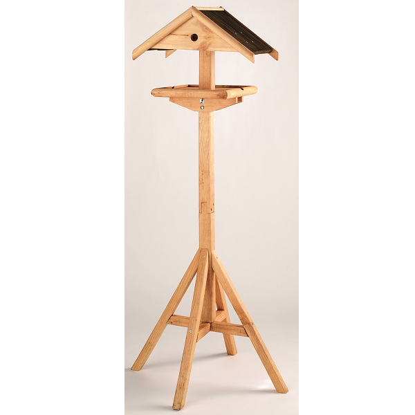Details about luxury wooden bird table house feeder garden outdoor new