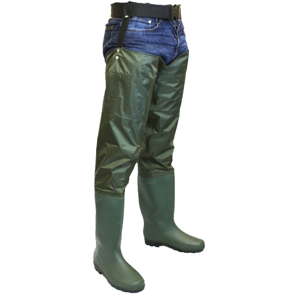 Nylon hip waders sizes 6 12 waterproof fly coarse for Fishing waders with boots