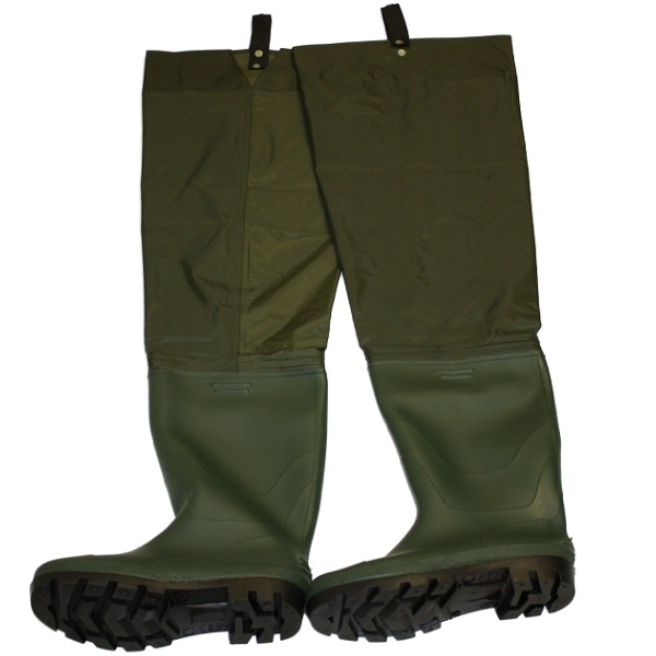 Boot size 12 nylon pvc waterproof hip thigh waders fly for Fly fishing waders
