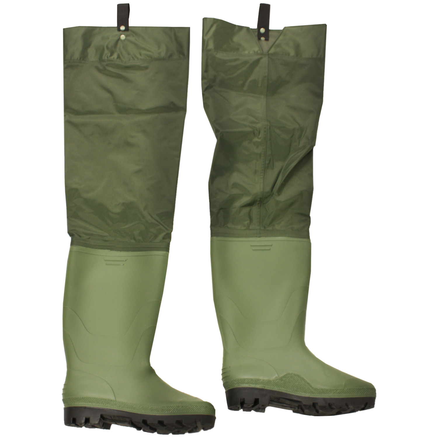 Boot size 8 nylon pvc waterproof hip thigh waders fly for Fly fishing waders