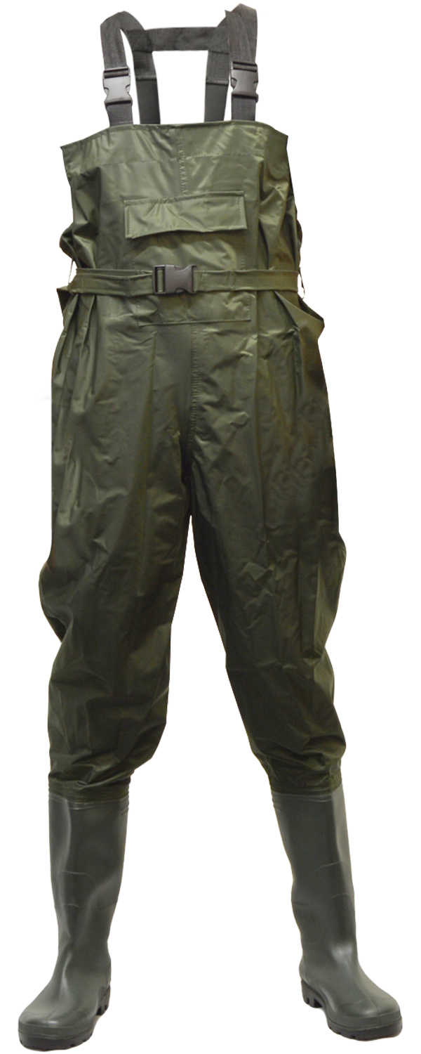 Boot size 10 waterproof fly fishing chest waders with belt for Chest waders for fishing