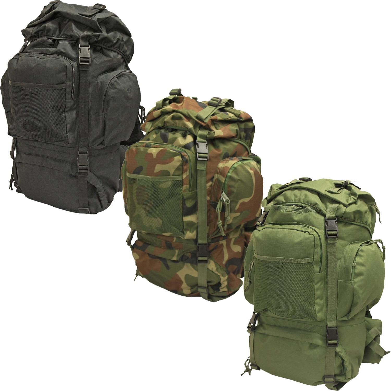 nitehawk 50l armymilitary heavy duty rucksackdaypack bergan with metal frame