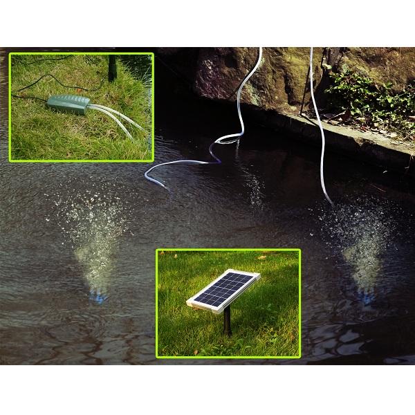 Woodside Solar Powered Oxygenator Pond Water Oxygen Pump 2
