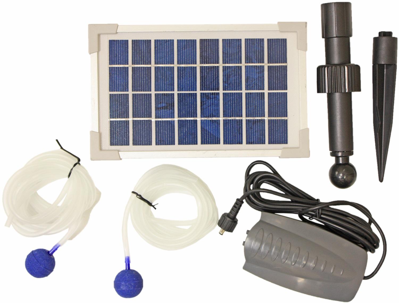 Woodside solar powered oxygenator pond water oxygen pump 2 for Pond oxygenator