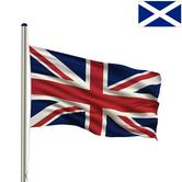 Woodside Flag Pole with Union Jack Flag and 1 EXTRA FLAG Thumbnail 4