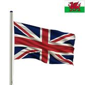 Woodside Flag Pole with Union Jack Flag and 1 EXTRA FLAG Thumbnail 5