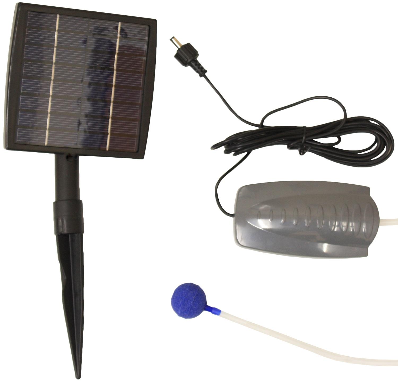 Solar powered pond oxygenator water pump 1 air stone for Pond oxygenator